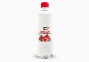 Sparkling mineral water with a touch of raspberry 0.5 liter
